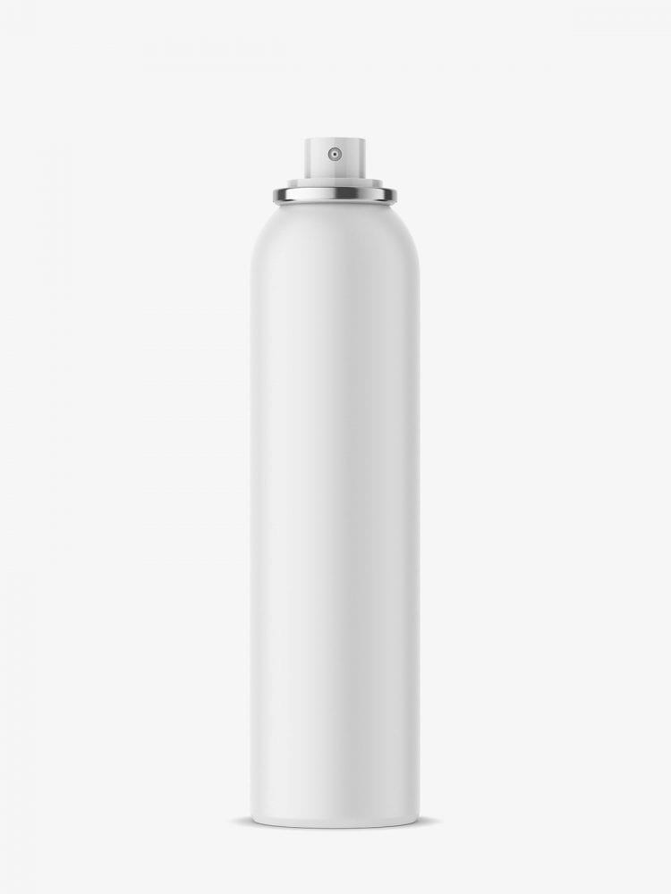 Aerosol bottle mock-up