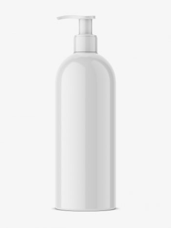 bottle with pump mockup