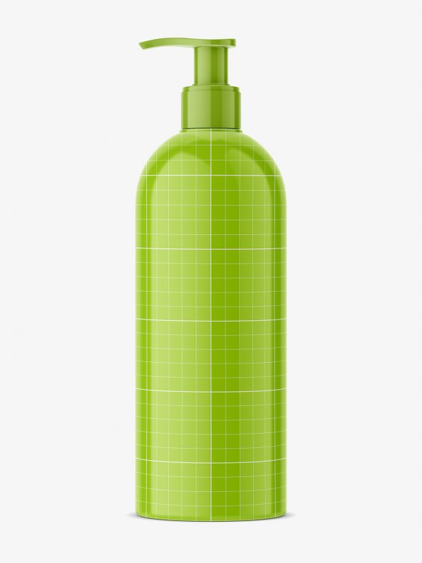 bottle with pump mockup
