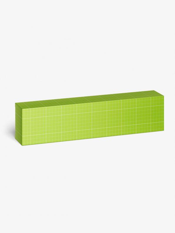 horizontal box mockup