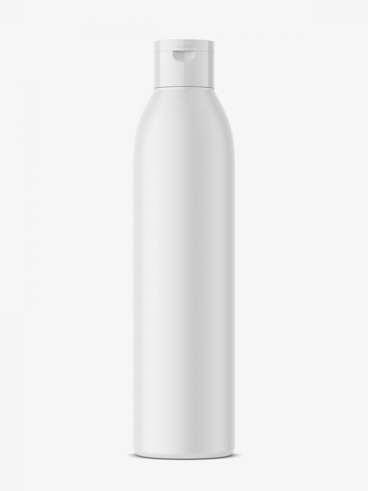 Matt plastic bottle mockup