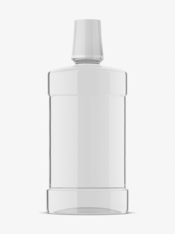 mouthwash bottle mockup