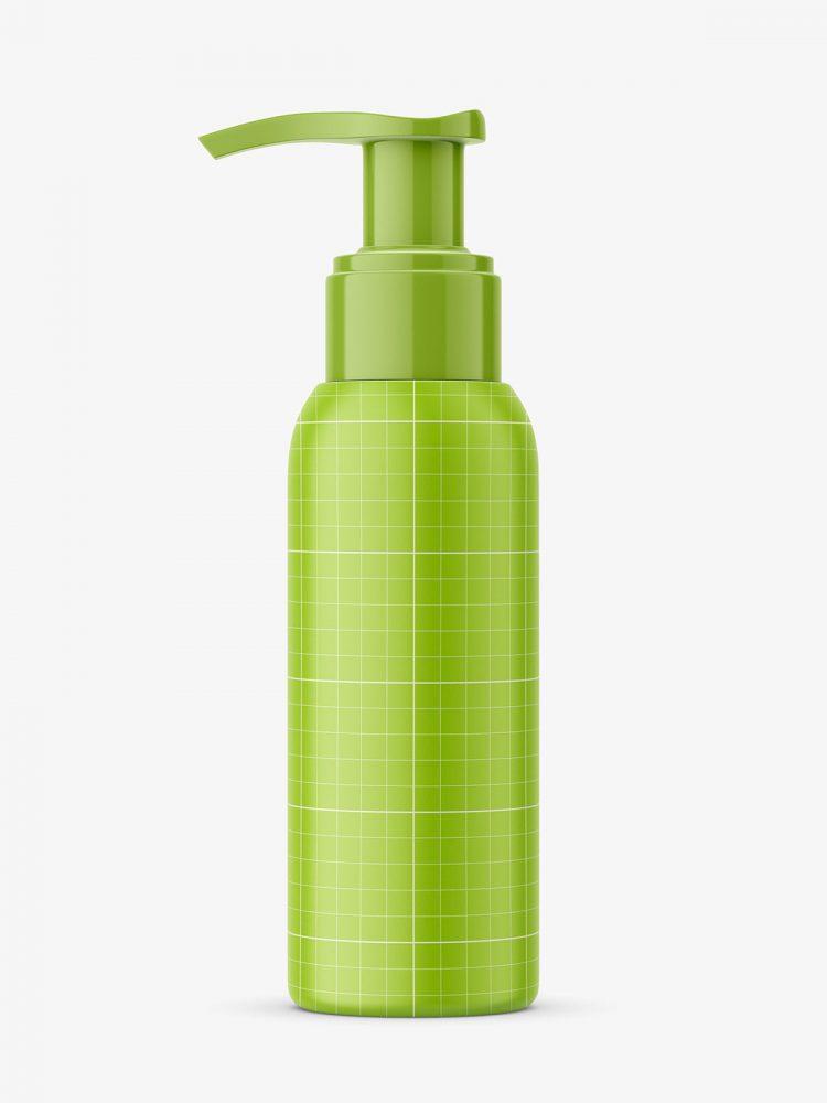 Universal bottle with pump mockup / 100 ml