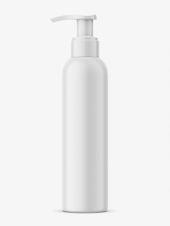 Universal bottle with pump mockup
