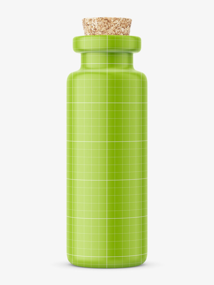 cork glass bottle mockup