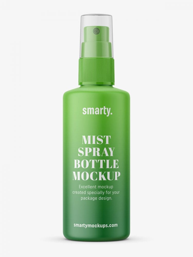 Mist spray bottle mockup