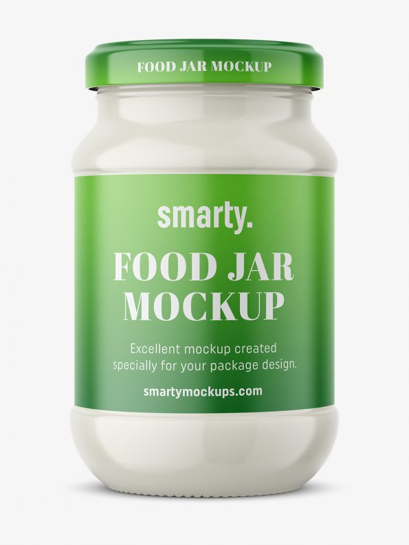 Mayonnaise jar mockup