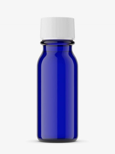 Pharmacy bottle phial mockup / Cobalt / 15 ml