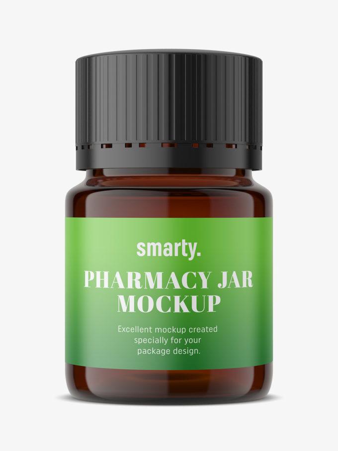 Pharmacy jar mockup
