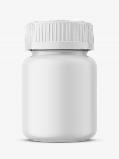 medical jar mockup