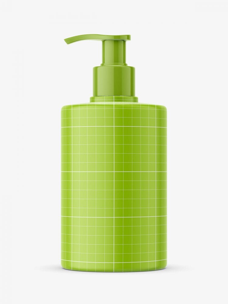 Soap bottle with pump mockup