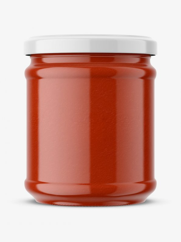 Tomato puree jar mockup