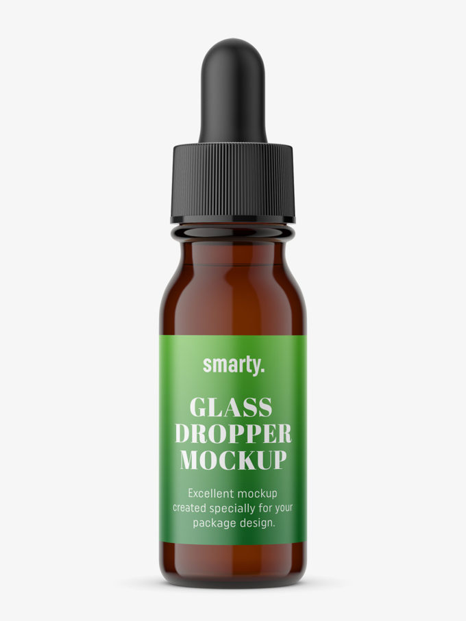 Dropper bottle mockup