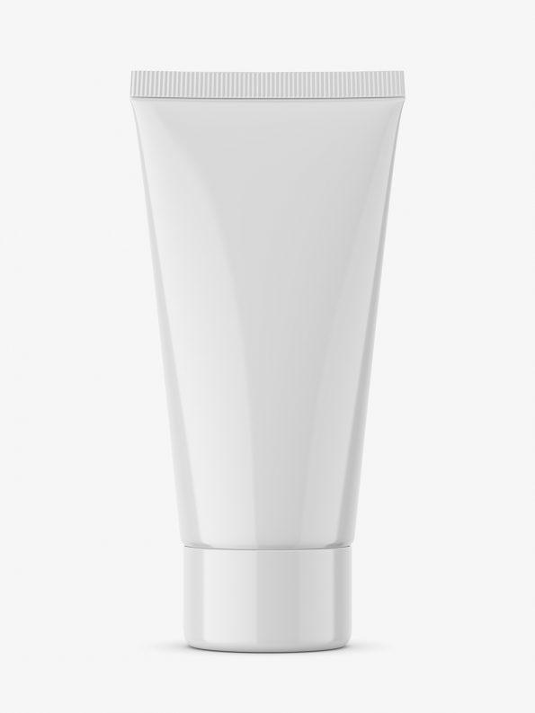 Glossy tube mockup with screw cap / fi 35 / 100 mm