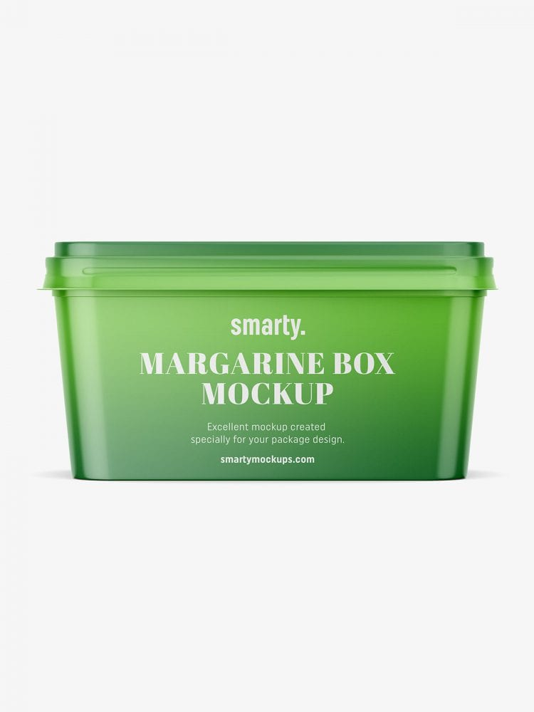 Margarine box mockupMargarine box mockup