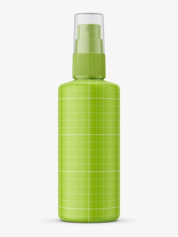 Push spray bottle mockup