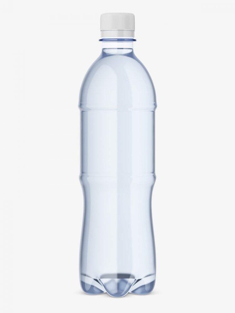 Mineral water bottle mockup