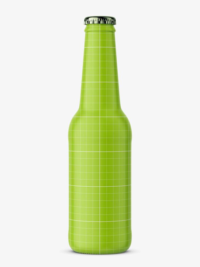 Beer bottle mockup / black ceramic