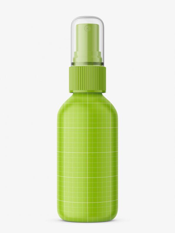 Cobalt spray bottle mockup