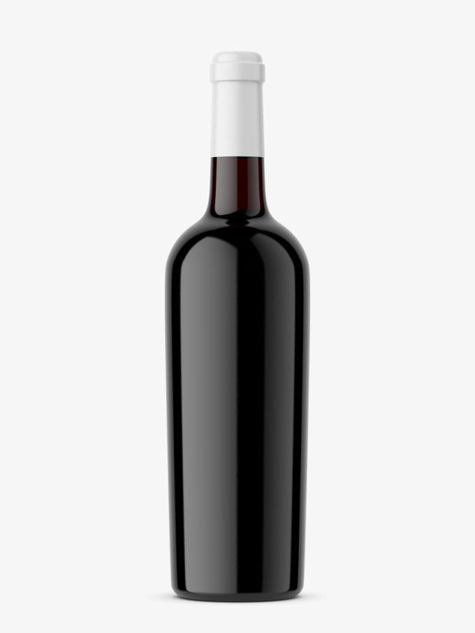 Dark glass wine mockup