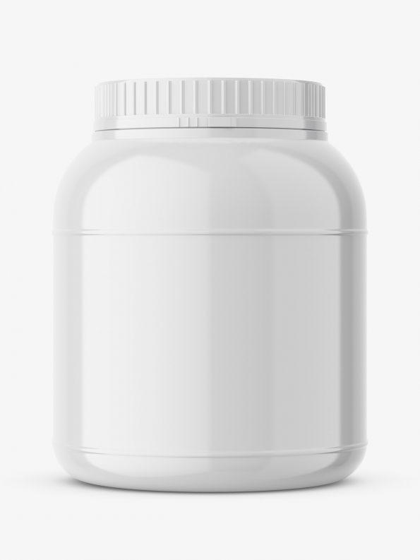 Glossy nutrition jar mockup