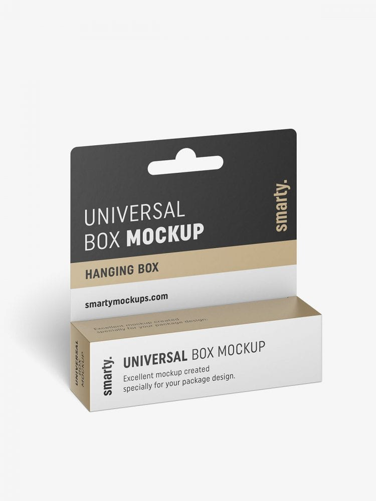Hanging box mockup / 110x30x30