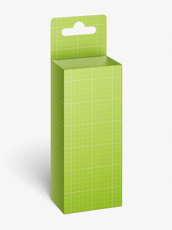 Hanging box mockup / 50x115x35