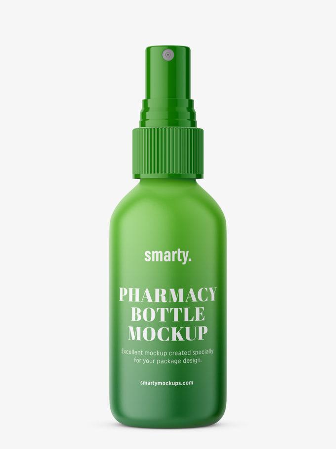 Plastic spray bottle mockupPlastic spray bottle mockup