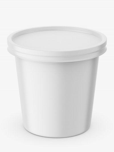 Sour cream mockup / top view