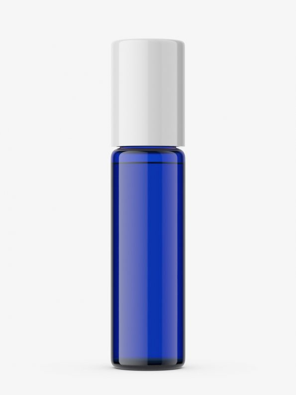 Cobalt bottle mockup / 10ml