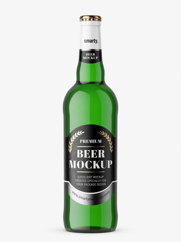 Green beer mockup