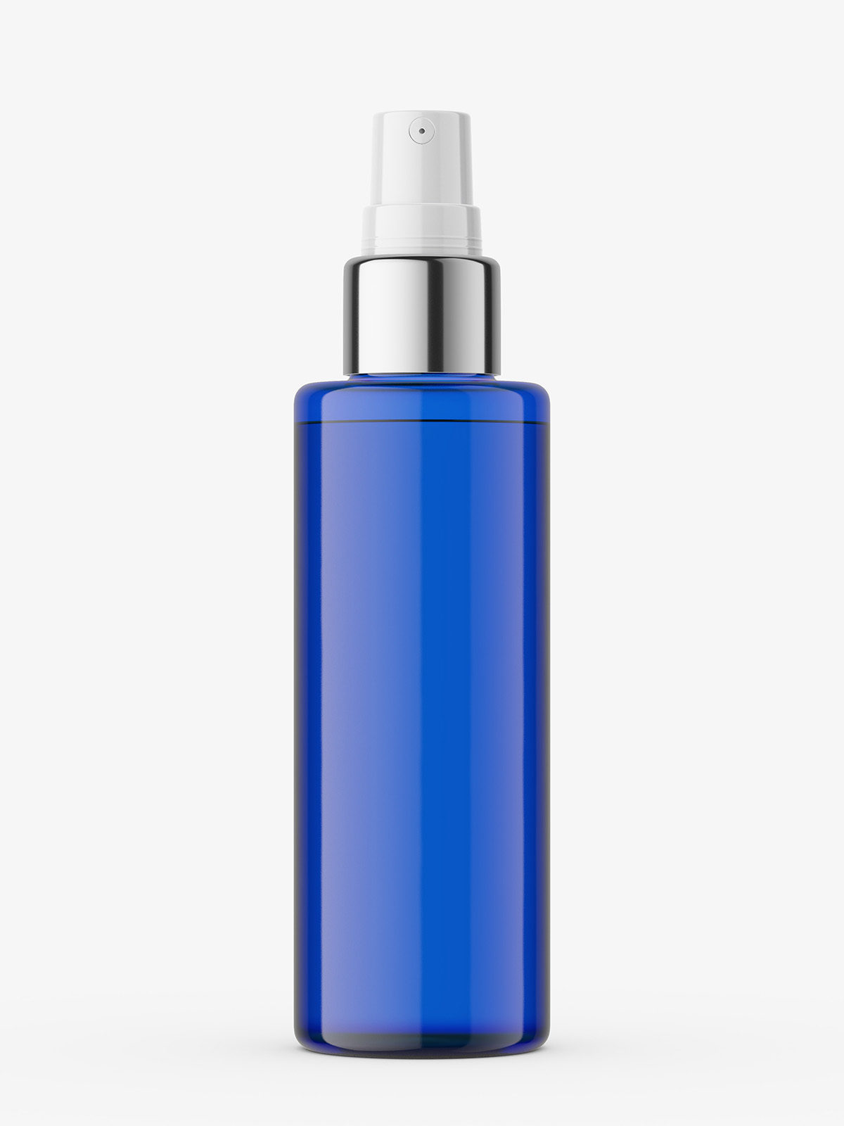 Atomizer Bottle With Silver Top Cobalt Smarty Mockups