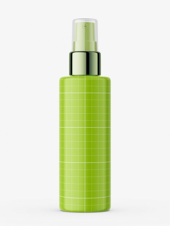 Atomizer bottle with silver top