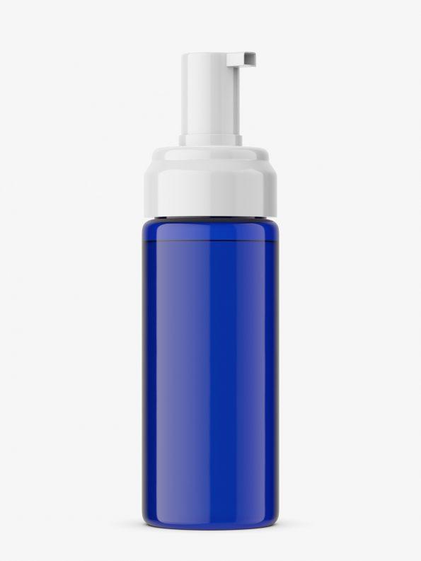 Foam bottle mockup / cobalt