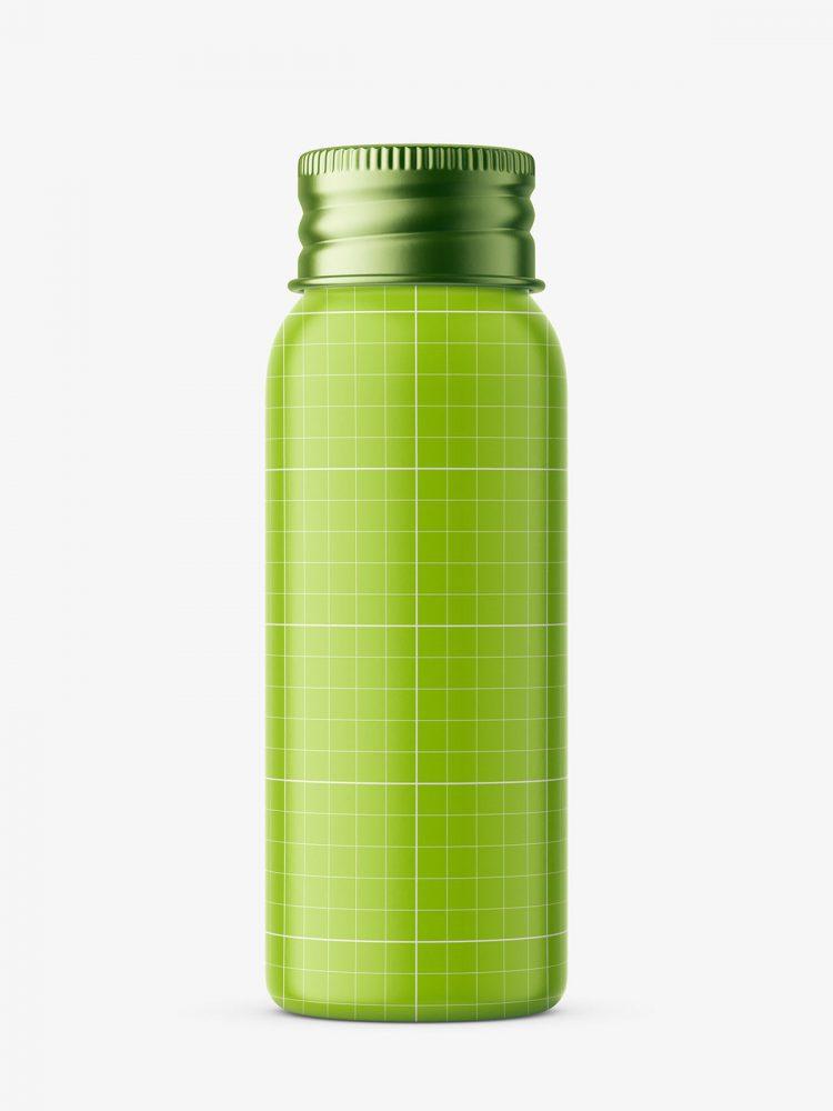 30 ml bottle with silver cap mockup / cobalt