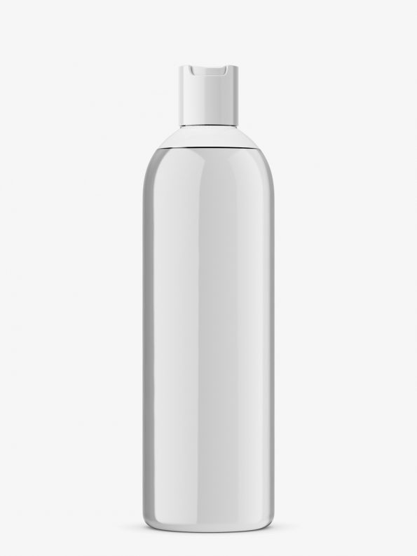 Bottle with disc top mockup / transparent