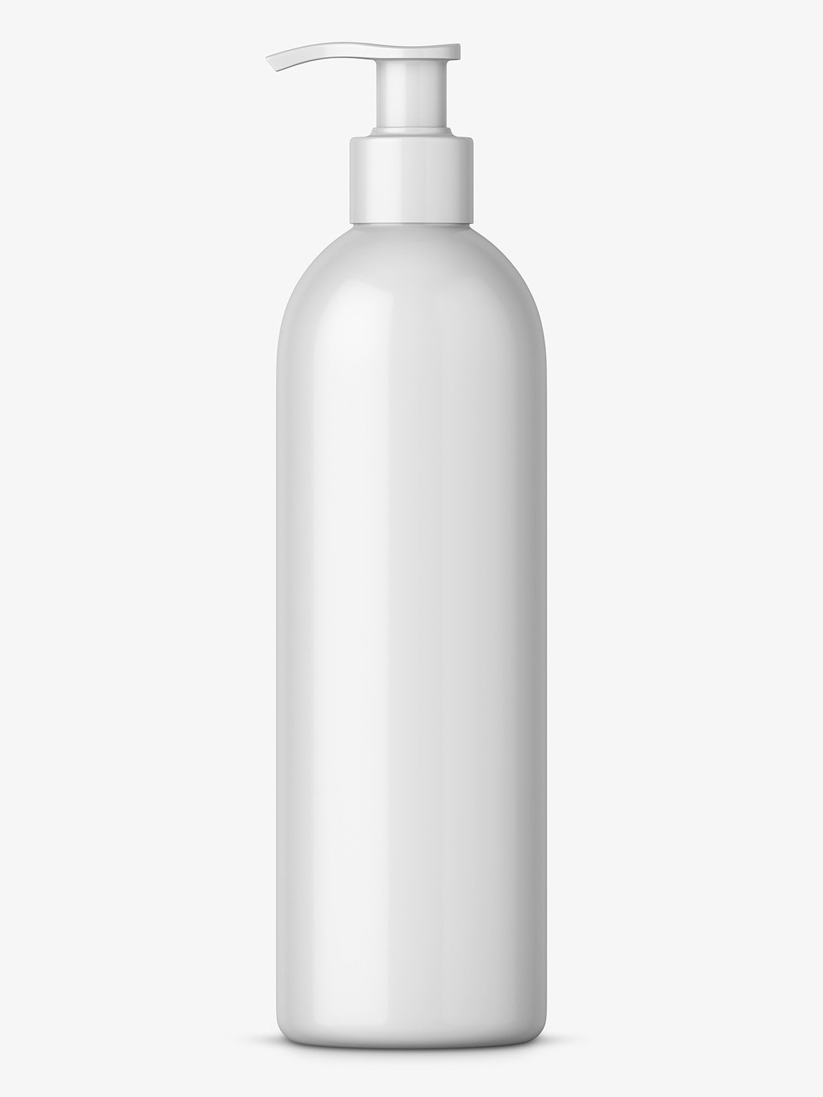 bottle with pump mockup white smarty mockups. Black Bedroom Furniture Sets. Home Design Ideas