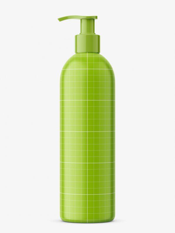 Bottle with pump mockup / cobalt