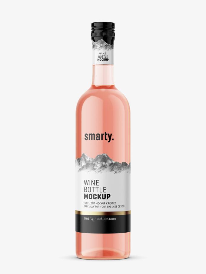 Rose wine mockup