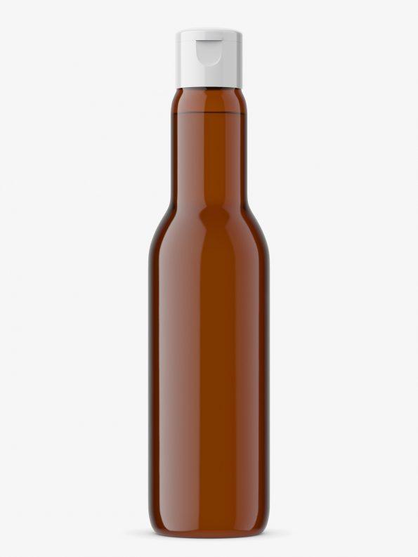 Univeral bottle mockup / amber