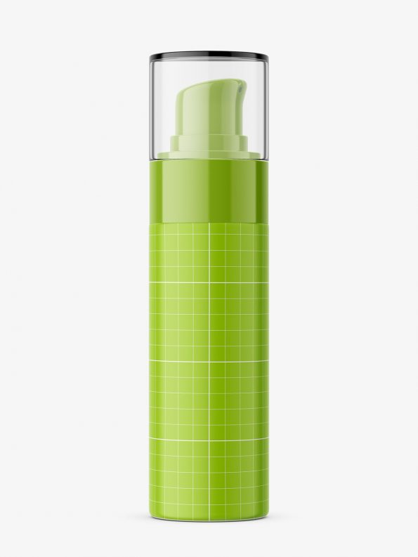 Glass airless bottle mockup