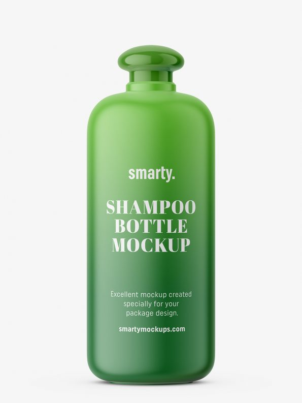 Shampoo bottle with oval closure
