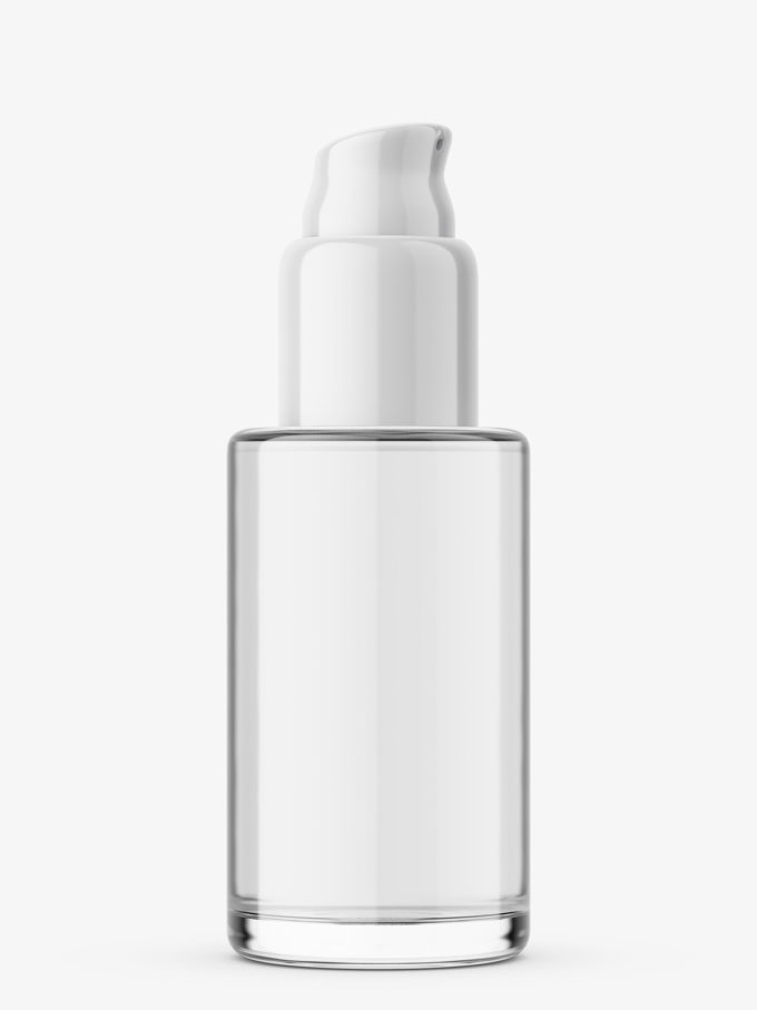 Airless bottle with liquid mockup