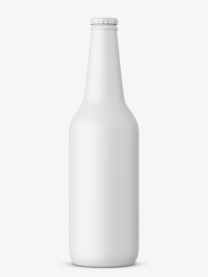 Beer bottle mockup / matt
