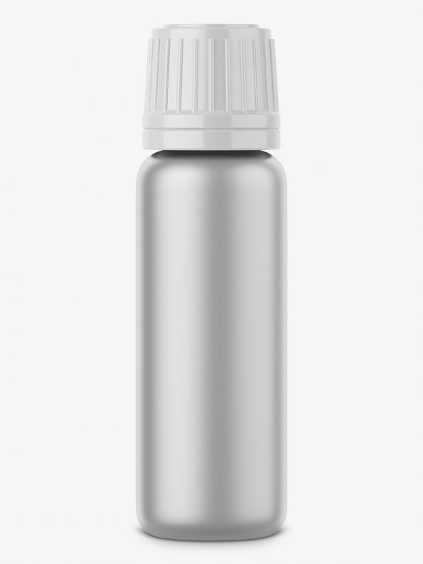 Metal bottle mockup