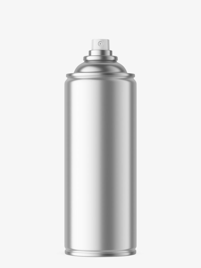 Metallic aerosol can mockup