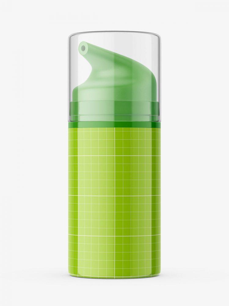 Airless glossy bottle mockup