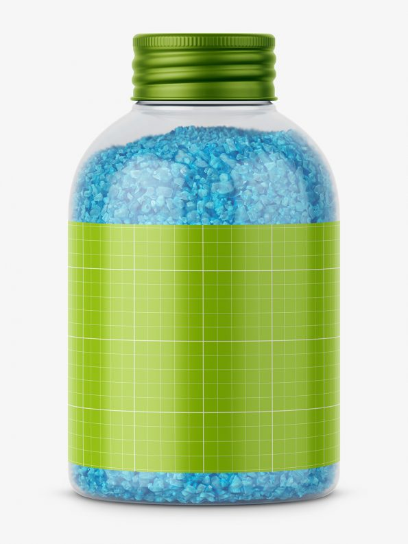 Bath salt mockup / blue
