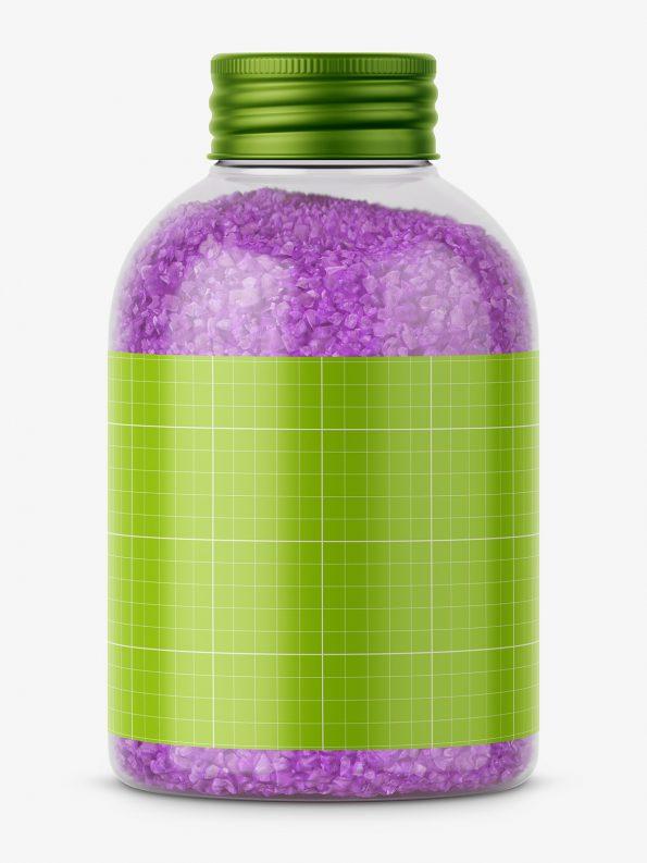 Bath salt mockup / violet