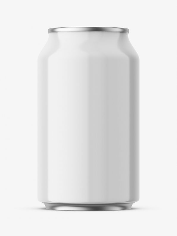 Glossy beer can mockup / 330 ml